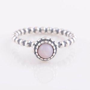 Pandora Pink Opal Birthstone Ring
